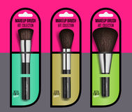Realistic professional makeup artist brush set Royalty Free Stock Photo