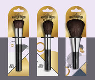 Realistic professional makeup artist brush set Stock Photography
