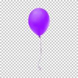 Realistic purple balloon. Vector illustration. Stock Images