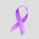 Realistic purple ribbon symbol of World Epilepsy day. March 26. Vector. Realistic purple ribbon symbol of World Epilepsy day. March 26. Vector illustration stock illustration