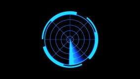 Realistic radar in searching. Air search. HUD radar display