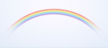 Realistic rainbow. Colorful rain sky rainbows colors and gay symbol isolated vector illustration royalty free illustration