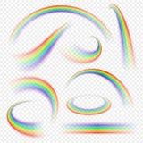 Realistic rainbow curve vector illustration