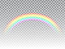 Realistic rainbow isolated on transparent background. Rainbow icon. Symbol of love. Colorful light and bright design royalty free illustration