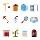 Realistic Real Estate icons Stock Photos