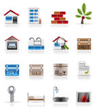 Realistic Real Estate icons. Vector Icon Set Stock Photography