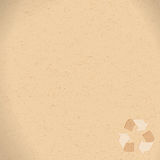 Realistic recycled paper with recycling symbol copy space Royalty Free Stock Photo
