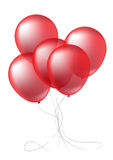 Realistic Red balloons Stock Photography