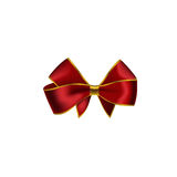 Realistic red bow isolated on white background. Royalty Free Stock Image