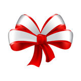 Realistic red bow Royalty Free Stock Photo