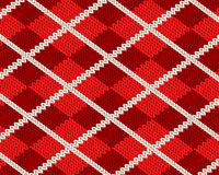 Realistic red cloth pattetn Royalty Free Stock Images