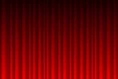 Realistic red curtain Royalty Free Stock Image