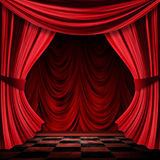Realistic red curtains Stock Photo