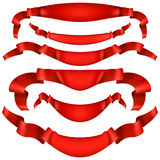 Realistic Red decorative ribbon. EPS 10 Stock Photo