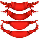 Realistic Red decorative ribbon. EPS 10 Stock Image
