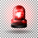 Realistic red flasher siren for cars. Emergency flashing siren. royalty free illustration