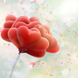 Realistic Red Hearts Background. EPS 10. Vector file included Royalty Free Stock Photos