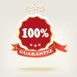 .realistic red labels with shadows. vector illustration Stock Photo