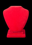 Realistic red stands for jewelry Royalty Free Stock Photo