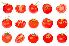 Realistic red Tomatos Royalty Free Stock Photography