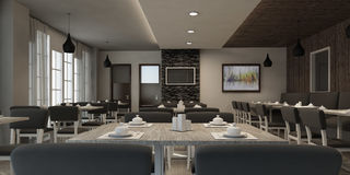 Free REALISTIC RESTAURANT INTERIOR Royalty Free Stock Photography - 77288437