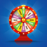 Realistic retro spinning wheel of fortune or luck. Vector illustration Royalty Free Stock Image