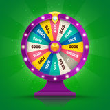 Realistic retro spinning wheel of fortune or luck Royalty Free Stock Images