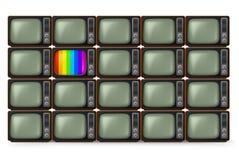 Realistic retro TV Stock Photos