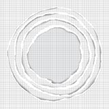 Realistic Ripped Squared Paper Circle Elements Royalty Free Stock Image