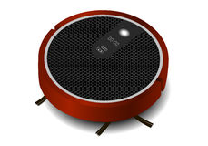 Realistic robotic vacuum cleaner. With a brush Royalty Free Stock Photography
