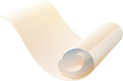 Realistic roll of paper icon Royalty Free Stock Image
