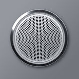Realistic round metal loudspeaker Royalty Free Stock Photography