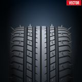 Realistic rubber tires and spikes banner. Vector Stock Photos