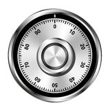 Realistic safe combination lock wheel Stock Photo