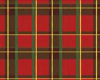 Realistic scottish fabric Stock Photography