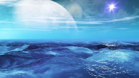 Realistic Sea on Exoplanet, Abstract Loopable Background stock video footage