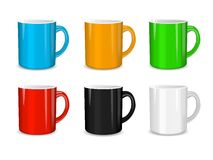 Realistic set of cups. Vector illustration Stock Photos