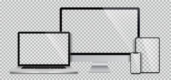 Free Realistic Set Of Monitor, Laptop, Tablet, Smartphone - Stock Vector Stock Photo - 157331570