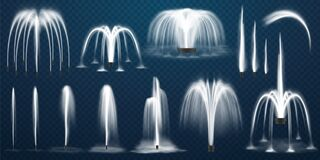 Free Realistic Set Of Vector Fountain Jet, Spray Royalty Free Stock Photo - 172204055