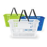 Realistic  shopping baskets Stock Images