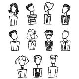Realistic silhouete avatars Royalty Free Stock Images