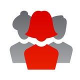 Realistic silhouete avatars Stock Image