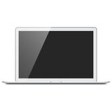 Realistic Silver Laptop Computer Mockup Royalty Free Stock Photo