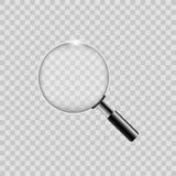Realistic silver magnify on transparent background. Vector. Realistic silver magnify on transparent background. Vector Stock Images