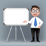 Realistic Smart Professor or Business Man Character Royalty Free Stock Photo