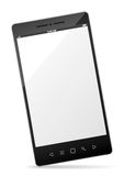 Realistic smartphone with empty touchscreen Stock Photography