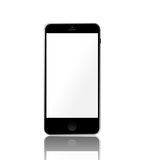 Realistic smartphone with empty touchscreen Stock Images