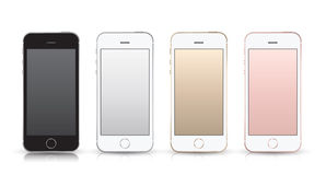 Realistic smartphone iphone style mockup. Royalty Free Stock Images