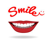 Realistic smile isolated on white. Vector Stock Photo