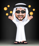 Realistic Smiling Handsome Saudi Arab Man Character Royalty Free Stock Image